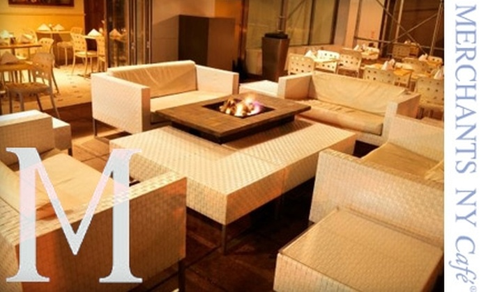 Merchants NY Cafe - Financial District: $12 for $25 Worth of American Cuisine and Drinks at Merchants NY Cafe
