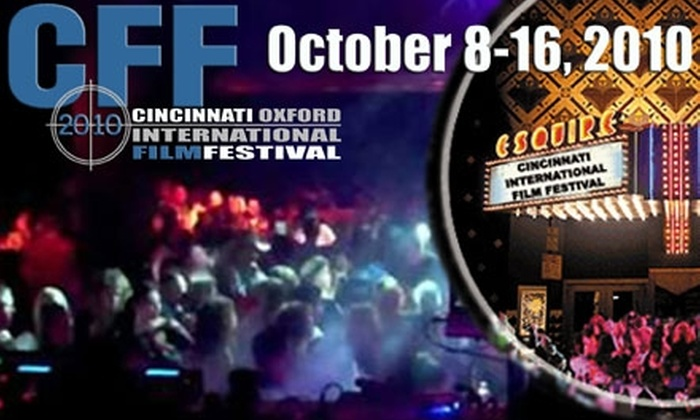 Cincinnati Film Festival - Multiple Locations: $22 for One All-Day Pass to the Cincinnati Film Festival on October 14, Plus One Ticket to Awards Gala ($45 Value)