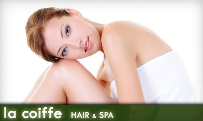 La Coiffe Hair & Spa - Pepper Pike: $55 for Microdermabrasion or a European Facial with Eye Zone Treatment at La Coiffe Hair & Spa in Pepper Pike ($135 Value)