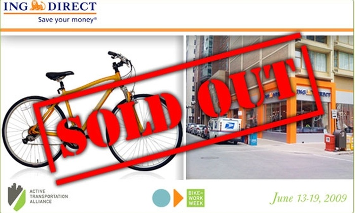 ING DIRECT Cafe - Near North Side: $275 Marin Bicycle at ING DIRECT (45% Off $495 value)