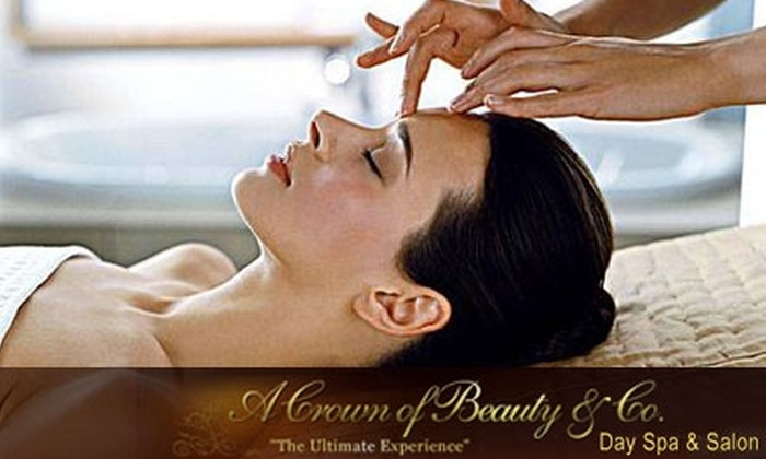 A Crown of Beauty & Co. Day Spa & Salon - Woodward Park: Spa Mini-Facial or Waxing Services at A Crown of Beauty & Co. Day Spa & Salon. Choose Between Two Options.