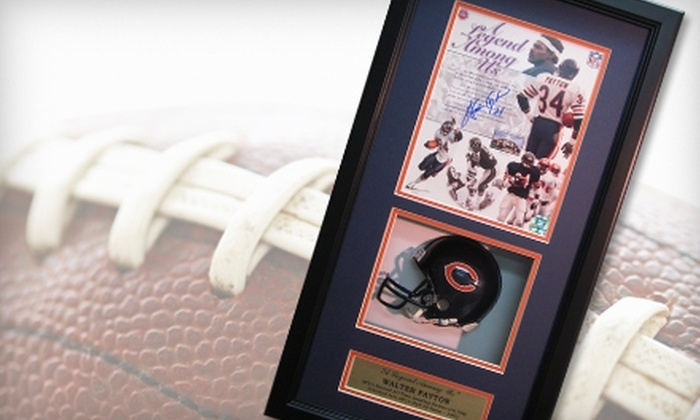 Powers Collectibles: $229 for a Shadowbox-Framed Walter Payton Mini Helmet and Autographed Photo from Powers Collectibles ($498.95 Value)