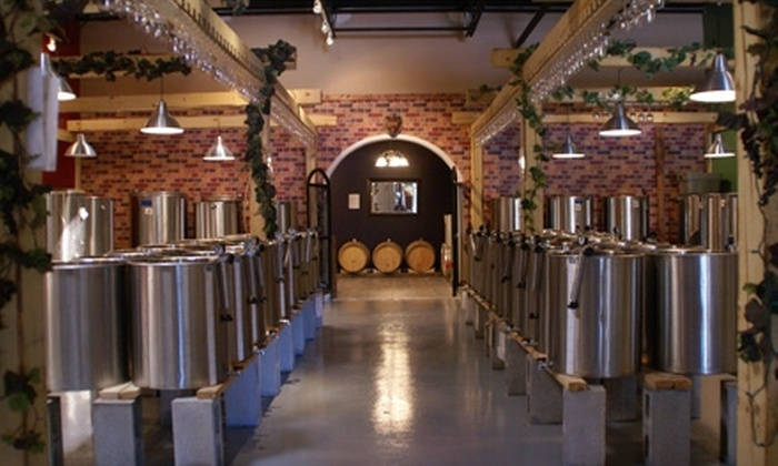 The Wine Garden Warehouse Winery - Multiple Locations: $75 for Wine-Making Experience and 24 Bottles Worth of Wine at The Wine Garden Warehouse Winery ($150 Value). Four Locations Available.
