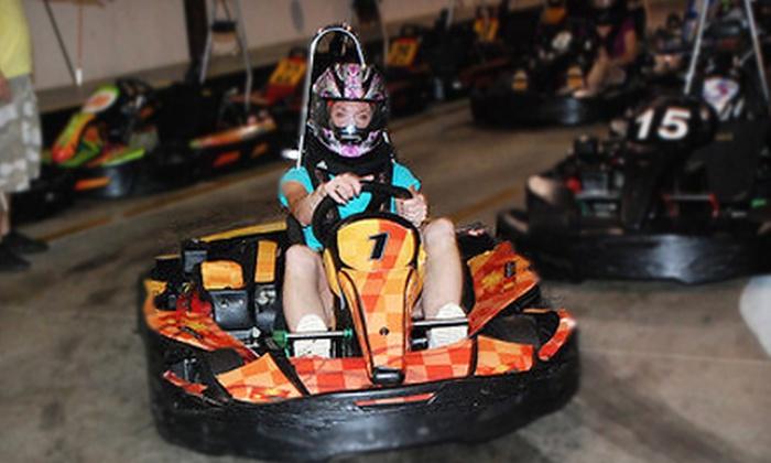 RushHour Karting - Garner: Grand Prix Karting for 5–10 or Two Eight-Minute Kart Races at RushHour Karting in Garner (Up to 64% Off)