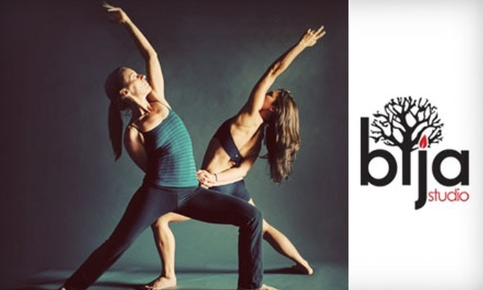 The Bija Studio - Northwest Colorado Springs: $35 for One Month of Unlimited Yoga Classes at The Bija Studio ($110 Value)