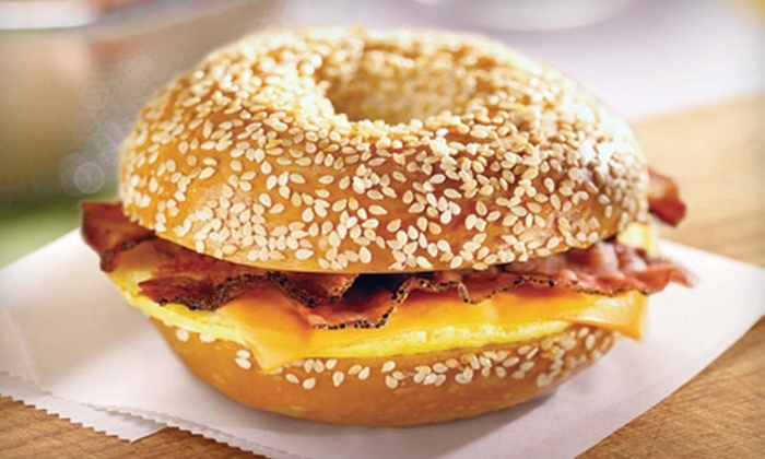 Bruegger's Bagels - Multiple Locations: $5 for $10 Worth of Bagels, Sandwiches, and Coffee at Bruegger's Bagels