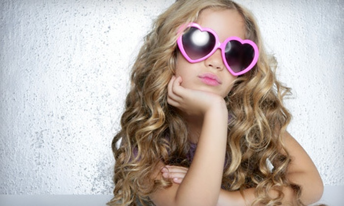 Giggles Kids Salon - Logger's Run: $15 for a Glamour Girl Spa Package with Updo, Makeup, and Nail Polish at Giggles Kids Salon in Boca Raton ($30 Value)