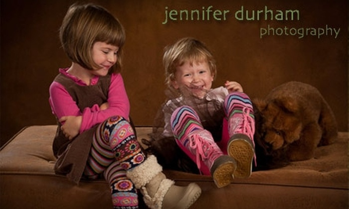 Jennifer Durham Photography - Multiple Locations: $35 for Your Choice of Santa or Outdoor Family Photo Session, Plus Print Options from Jennifer Durham Photography