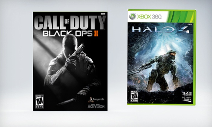 """Call of Duty: Black Ops II"" & ""Halo 4"": ""Call of Duty: Black Ops II"" and ""Halo 4"" Games (Up to 12% Off). Four Options Available. Free Shipping and Free Returns."