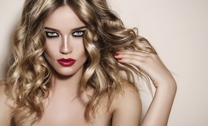 image for Haircut with a Blow-Dry and Condition or Parting Highlights at Blu Nuvo (Up to 50% Off)
