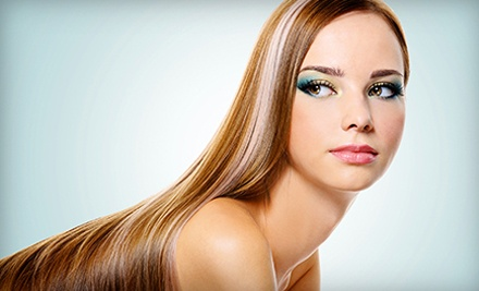 Haircut and Color Package or Keratin Smoothing at Blonde Salon & Spa (Up to 67% Off). Four Options Available.