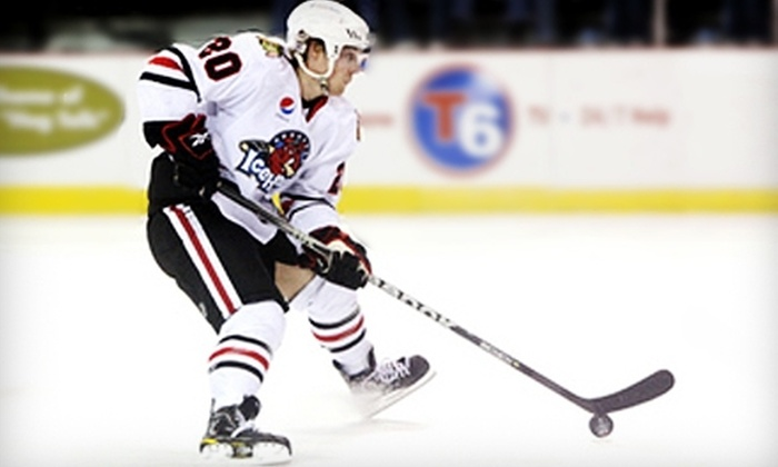 Rockford IceHogs - Downtown Rockford: $49 for Four Executive-Sideline Tickets to a Rockford IceHogs Hockey Game with Hot Dogs and Sodas ($111 Value)