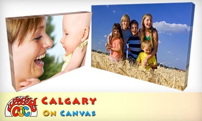 CalgaryOnCanvas.com: $40 for $80 Worth of Custom-Designed Canvas Prints from CalgaryOnCanvas.com