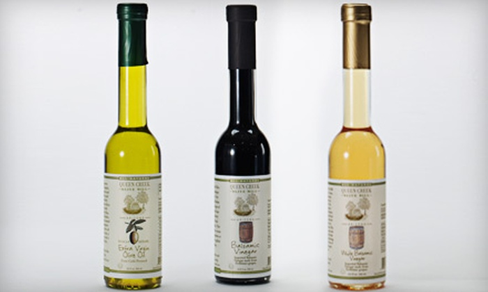 Queen Creek Olive Mill - Phoenix: $24 for an Oil and Vinegar Tri Pak at Queen Creek Olive Mill ($47.99 Value)