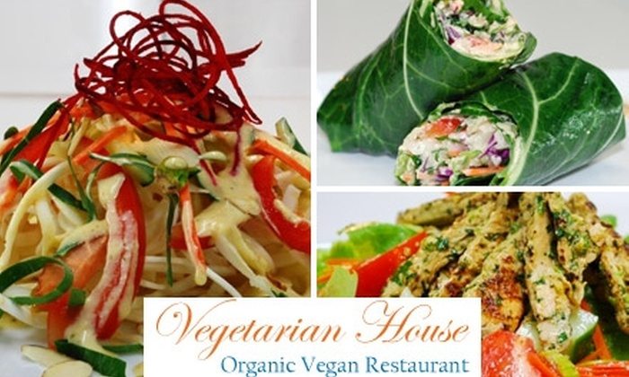 Vegetarian House - Downtown San Jose: $10 for $20 Worth of Vegetarian, Vegan, and Raw Cuisine and Drinks at Vegetarian House