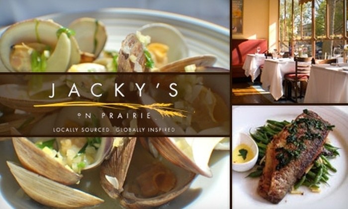 Jacky's on Prairie - Evanston: $20 for $40 Worth of Globally Inspired Cuisine and Drinks at Jacky's on Prairie