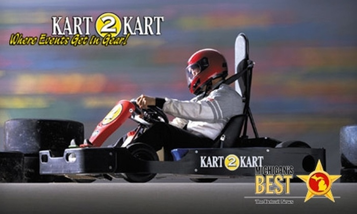 Kart 2 Kart - Sterling Heights: $22 for Three Go-Kart Races and Two Sodas at Kart 2 Kart (Up to $50 Value)