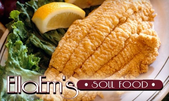 EllaEm's Soul Food - North Las Vegas: $8 for $16 Worth of Fare at EllaEm's Soul Food