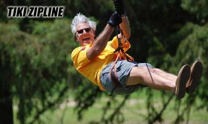 Tiki Zip Line - 3: $40 for a Zip-Line Adventure Tour with Tiki Zip Line ($89 value)