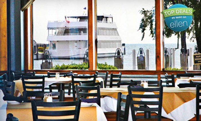 Brownie's on the Lake - The Nautical Mile: American Dinner for Two or Four or $12 for $25 Worth of American Fare During Lunch