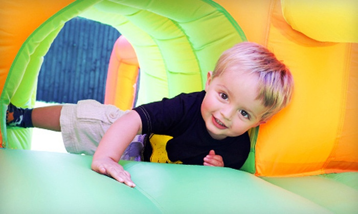 Bouncin Bonkers - Rockdale Junction: 5, 10, or 15 Drop-In Visits or a Two-Hour Bounce Party for Up to 12 at Bouncin Bonkers in Crest Hill (Up to 57% Off)