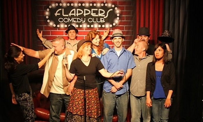Flappers Comedy Club - Multiple Locations: $15 for a Comedy Night for Two with Beers at Flappers Comedy Club (Up to $46 Value)