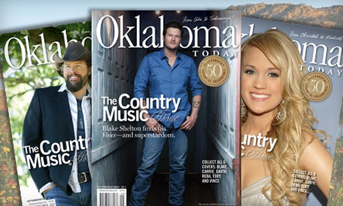 """Oklahoma Today"" Magazine - Multiple Locations: $10 for a One-Year Subscription to ""Oklahoma Today"" Magazine ($24.95 Value)"