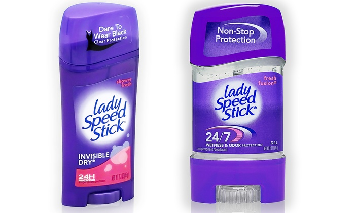 Lady Speed Stick Antiperspirant/Deodorant (6-Pack): Lady Speed Stick Fresh Fusion or Shower Fresh from $16.99–$17.99; 6-Pack of 2.3oz. Sticks + 5% Back in Groupon Bucks