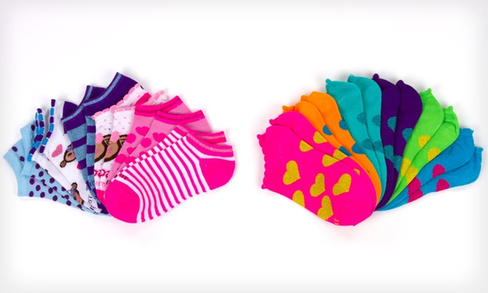 Esprit Girls' No-Show Socks: $10 for 12 Pairs of Esprit Girls' No-Show Socks ($24 List Price). 10 Options Available.