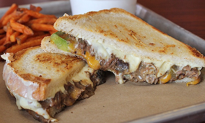 The Big Cheezy - Multiple Locations: Gourmet Grilled Cheese for Two or Four, Valid Any Day at The Big Cheezy(Up to 40% Off)