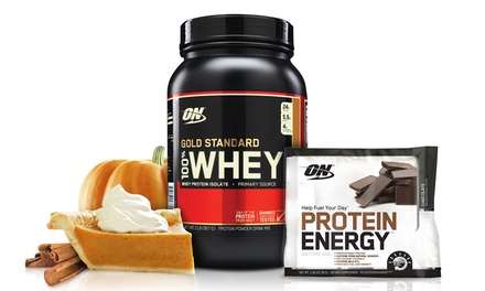 2lb. of Optimum Nutrition Pumpkin Pie Gold Standard Whey Protein Powder | Groupon Exclusive Flavor