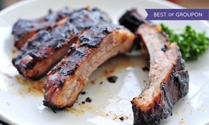 B.J. Ryans's Banc House: $29 for $50 Worth of Barbecue and Seafood at BJ Ryans's Banc House