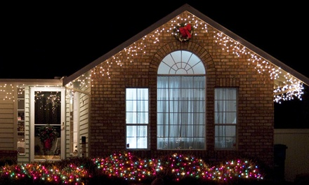 Icelite Solar Icicle 110-LED Holiday String Lights