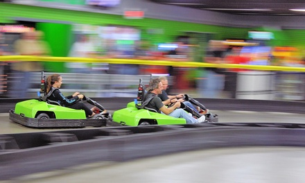 Unlimited Laser Tag and Go-Karts for Two or Four at LightSpeed Entertainment (Up to 44% Off)