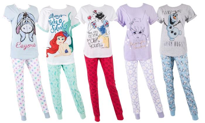 Ladies\' Disney Character Pyjamas | Groupon Goods