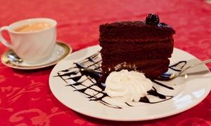 Restauracja Wiśniowy Sad: Kawa lub herbata i deser dla 2 osób za 27,99 zł i więcej opcji w restauracji Wiśniowy Sad (do -42%)