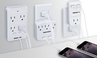 GROUPON: 1-, 3-, or 4-Outlet and Dual-USB Wall Charging Station 1-, 3-, or 4-Outlet and Dual-USB Wall Charging Station