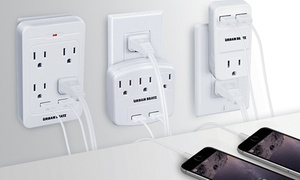 1-, 3-, Or 4-outlet And Dual-usb Wall Charging Station From $9.99–$16.99