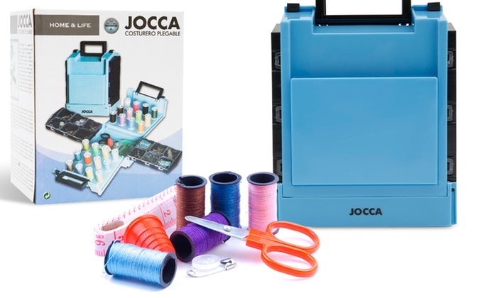 Jocca Folding Mini Complete Set Folding Compact Sewing Box  with138 Accessorie