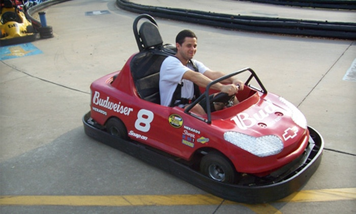 Kissimmee Go-Karts - Downtown Kissimmee: Go-Kart-and-Arcade Outing with Gator Feeding at Kissimmee Go-Karts (Up to 73% Off). Three Options Available.
