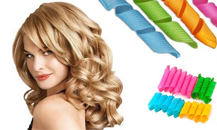 Sensational Magic Hair Curlers Groupon Goods Hairstyle Inspiration Daily Dogsangcom