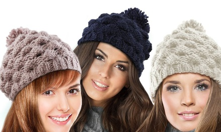 Women's Chunky Bobble Hat for £4.99