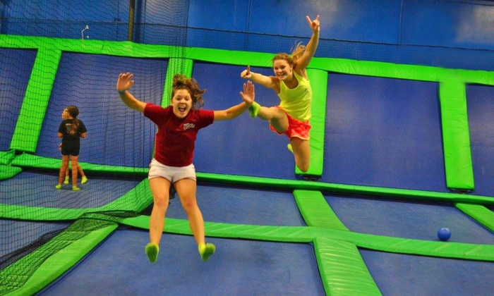 AirHeads Trampoline Arena - Multiple Locations: Unlimited Trampoline Jumping for Two or Four at AirHeads Trampoline Arena (Up to 39% Off)