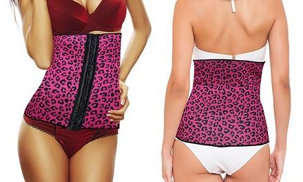 BeautyKo Insta-Curve Leopard Print Waist Cincher
