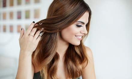 One or Three Haircuts with Optional Color or Highlights from Marlena at Awesome Hair Salon (Up to 58% Off)