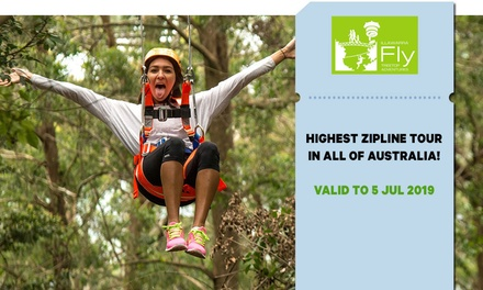 Illawarra Fly Zipline Experience for One Child $36 or Adult $60 Up to $75 Value*