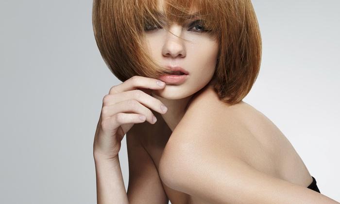 Morgan At Platinum Studio - Brentwood: Up to 59% Off Haircut packages & Keratin at Morgan At Platinum Studio