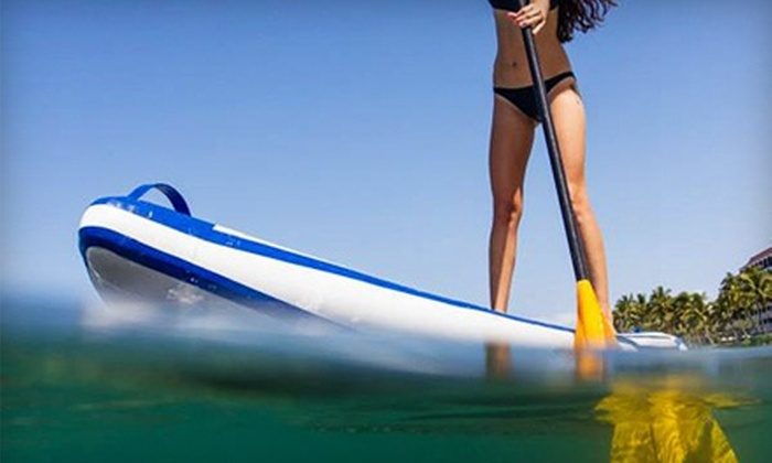 Lighthouse Inflatables - Virginia Beach: One-, Two-, or Three-Hour Standup-Paddleboard Rental from Lighthouse Inflatables (Half Off)