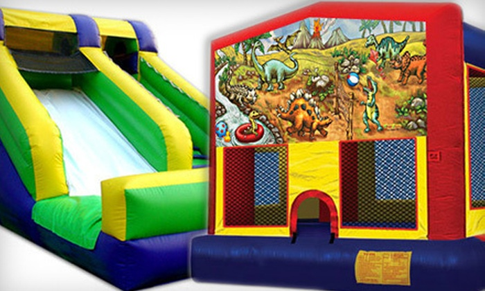 Comic Jumps - Downtown: Eight-Hour Deluxe or Standard Bounce-House Rental from Comic Jumps (Up to 57% Off)