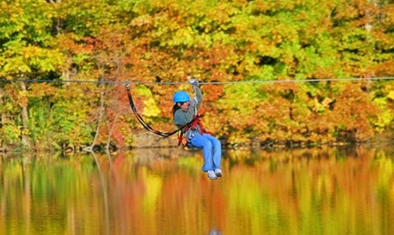 Canopy Exploration Tour for Two or Four at Zip Timber Lake (Up to 49% Off). Three Options Available.